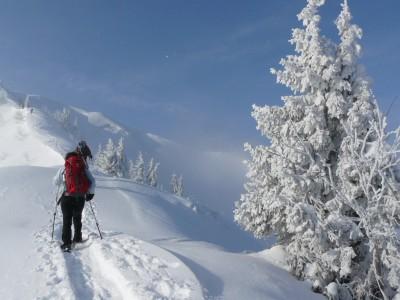 Transalp mit Schneeschuhen