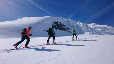 Wildspitze im Winter mit Sicherheitstraining