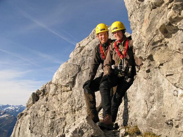 Klettersteig besiegt