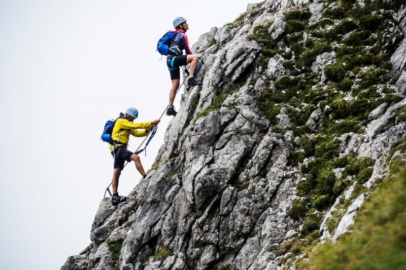 Walser Klettersteig im alpinen Gelände