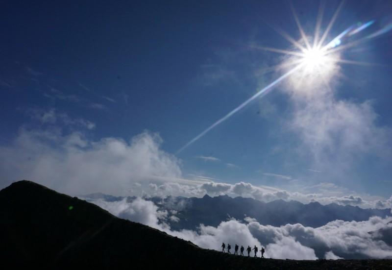Wolkenmeer bei der E5 Alpenüberquerung