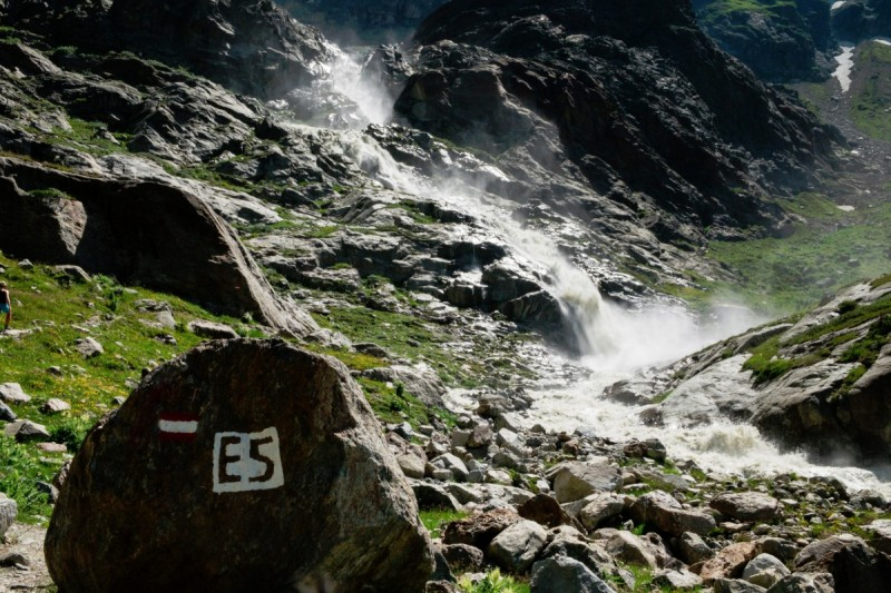 Entspannen und relaxen auf dem Weg über die Alpen